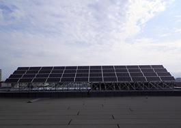 太陽光モジュール段差架台設置