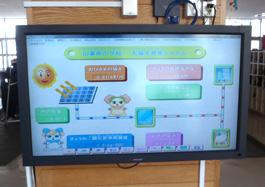 太陽光発電量モニター表示